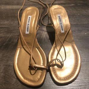 Gold Wrap Heels